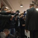Wie die Kandidaten zu den ganz heissen Themen stehen, wollen nicht nur die Journalisten wissen: Point de Presse nach einem Fraktionshearing einer früheren Bundesratswahl. Bild: Keystone
