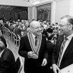 Ständerat Hannes Germann (r.) verabschiedete den scheidenden Verwaltungsratspräsidenten Jürg P. Spahn. Bilder Selwyn Hoffmann